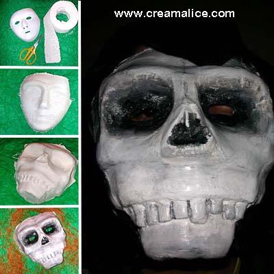 DIY Masque Squelette Halloween