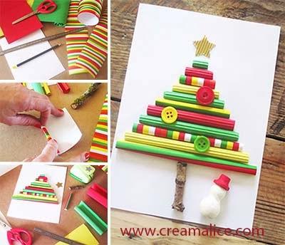 diy-carte-sapin-Noel-tubes-papier-Creamalice