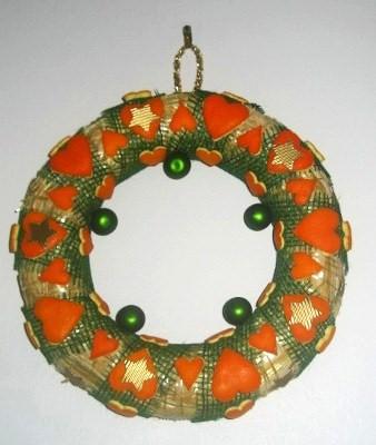 Couronne Noël peaux d'orange