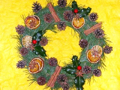 diy-couronne-végétale-Noel