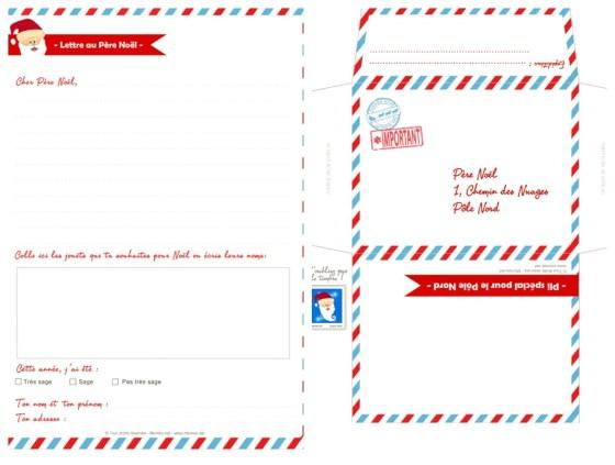 diy lettre Père Noël à imprimer2