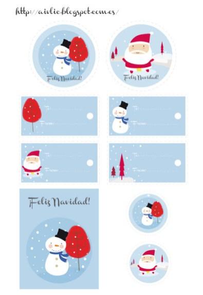 diy printable étiquettes Noël18