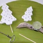 diy bougeoir sapins de Noël en Plastiroc