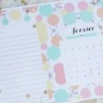 diy calendrier janvier à imprimer gratuitement