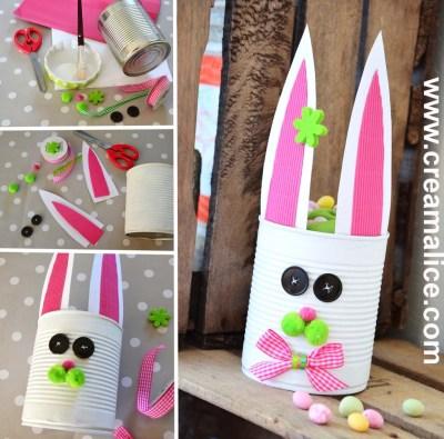 diy seau récup lapin de Pâques