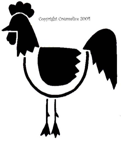 diy pochoir poule Pâques