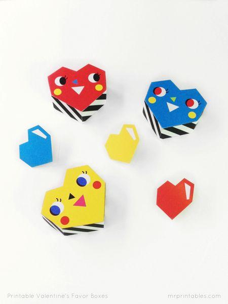 diy boîtes cœurs à imprimer pour la Saint Valentin