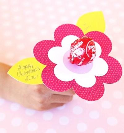 printable fleur papier Saint Valentin