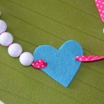 diy collier fantaisie cœur Saint Valentin