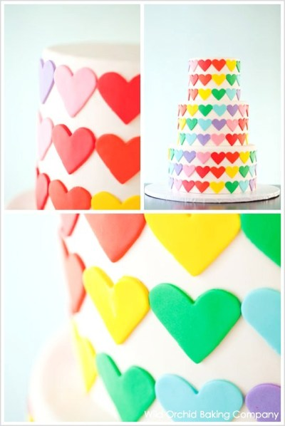 diy gâteau cœurs Saint Valentin