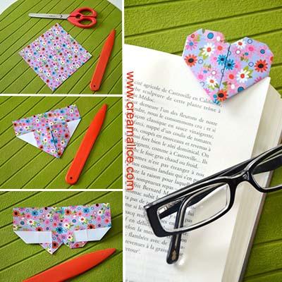 diy-marque-page-coeur-origami-Creamalice