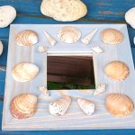 diy miroir coquillages