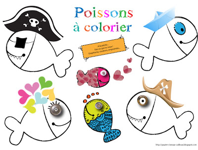 Printable Coloriages Poissons D Avril Créamalice