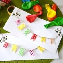 diy carte anniversaire guirlande masking tape