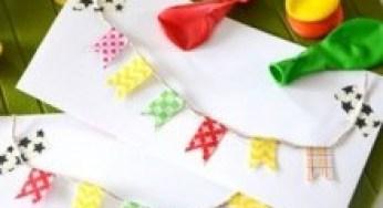Diy Carte Anniversaire Guirlande Fanions Masking Tape