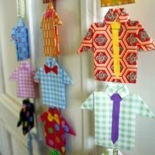 {DIY} Web ♥ du jour… ou comment réaliser une jolie guirlande de chemises en papier avec la technique de l'origami... Un joli petit cadeau fait-main qui tombe à pic pour la fête des pères!!!