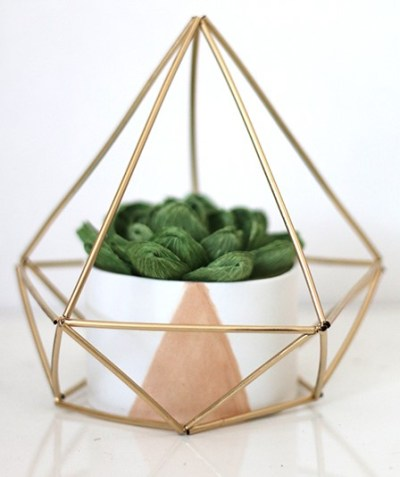 DIY Himmeli Geometric Sculpture