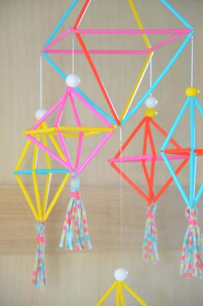diy mobile deco Himmeli