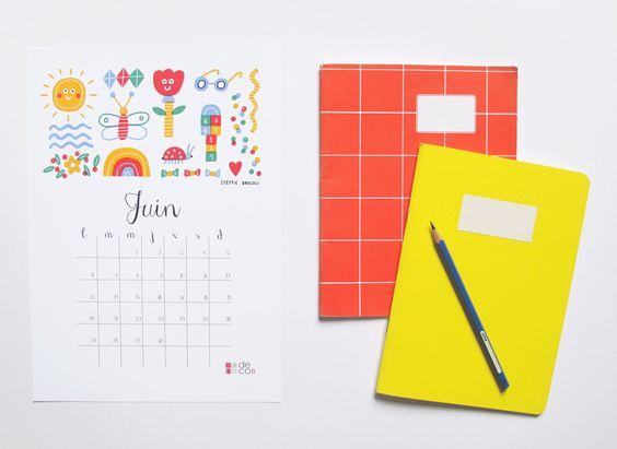 Selection-diy-printable-calendriers-Juin2017-Creamalice