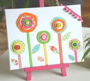 Tableau-Deco-fleurs-tissu-CreamaliceCreations
