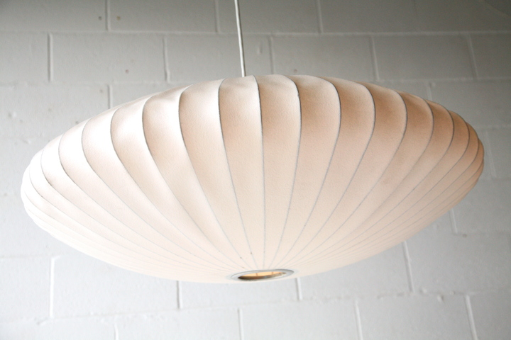 Large Bubble Pendant Lamp By George Nelson Cream And