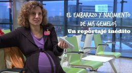 Eva María bernal embarazada de su mellizos en el 12 de octubre