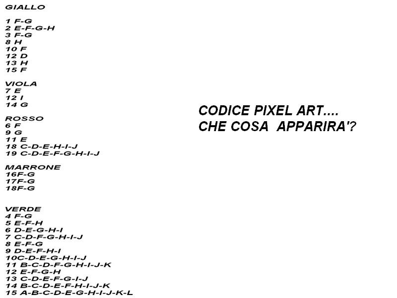 CODICE PIXEL ART ALBERO