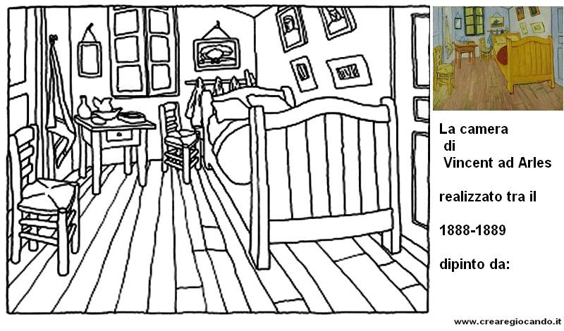LA CAMERA DI VINCENT AD ARLES (Van Gogh) * Crearegiocando