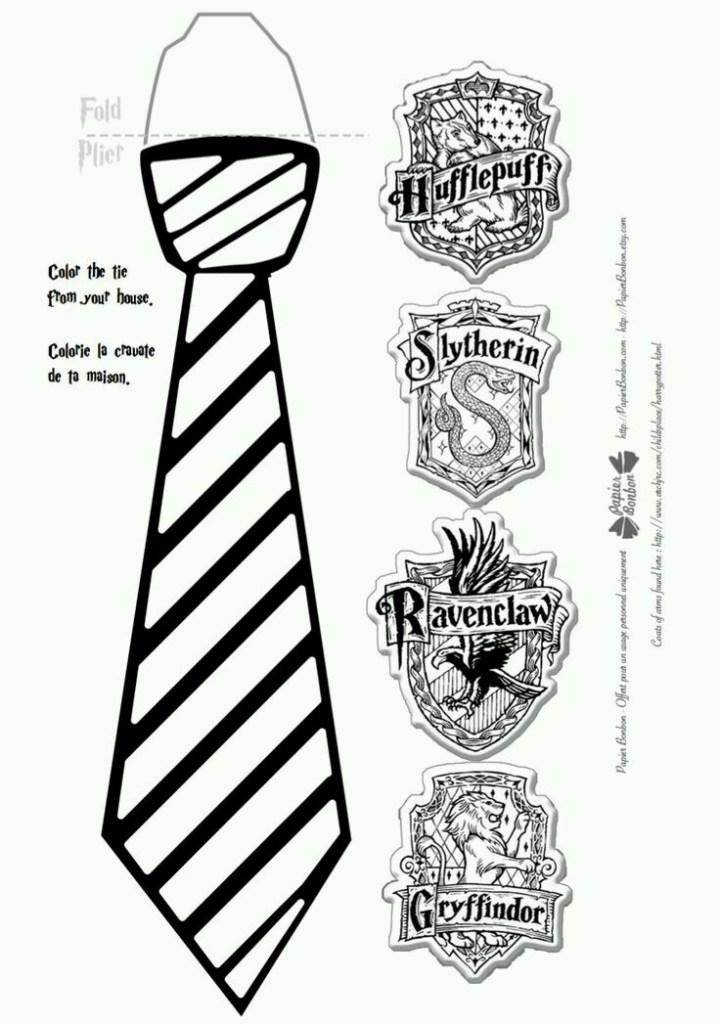 محطة تلفاز دافع عن كرامته ستة Cravatte Corvonero Harry Potter Da Ritagliare Ballermann 6 Org
