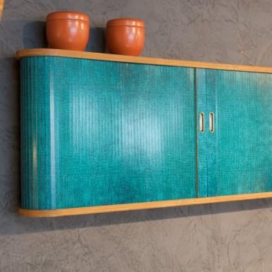 meuble écaille turquoise