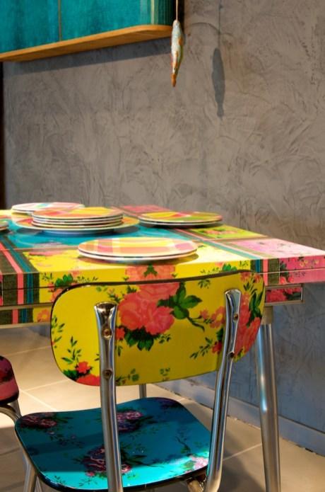 adhésif décoration table a manger