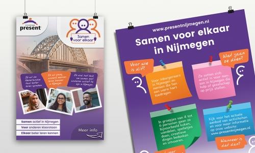 Flyer Stichting Present Nijmegen