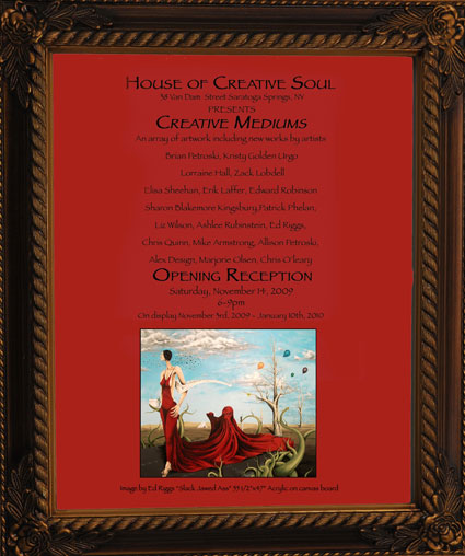 House of Creative Soul, Creative Mediums Opening Reception Invitation