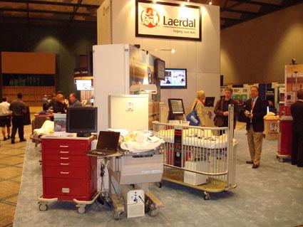 Laerdal's Custom Exhibit Rental for IMSH by Creatacor