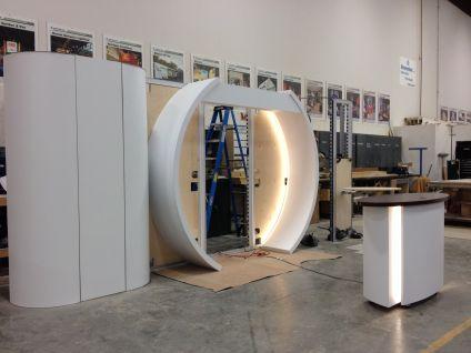 Mainfreight exhibit construction at Creatacor.