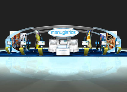 Manugistics Custom Exhibit Concepts, design by Creatacor