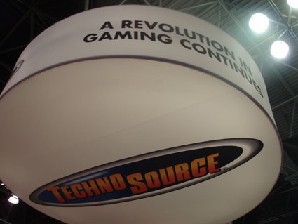Techno Source Hanging Sign at Toy Fair 2010