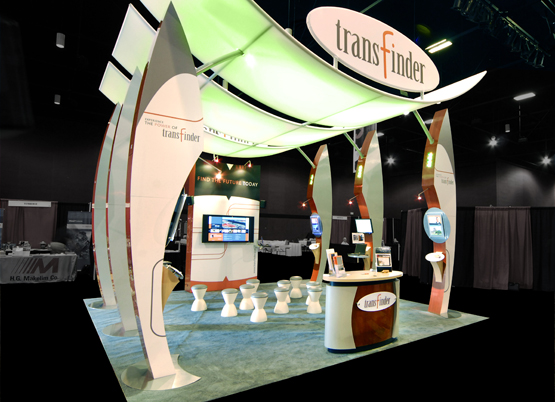 Transfinder trade show exhibit