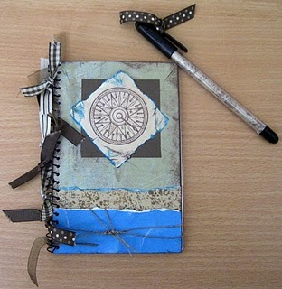Altered Notebook & Pen Gift Set
