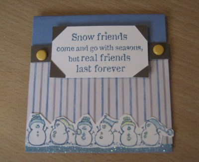 Real Friends - Winter Friendship Card