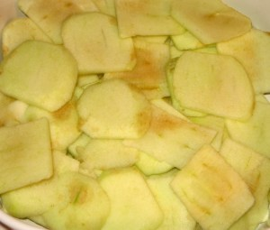 Step 8 - Thinly Sliced Apples