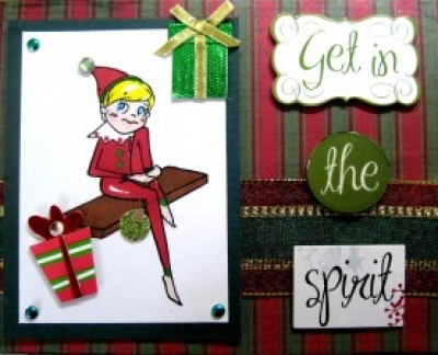 Amber Ink Elf On The Shelf Christmas Card