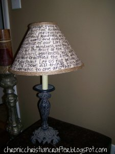 Erin - Chronic Christian Crafter - Pinterest Lampshade Project