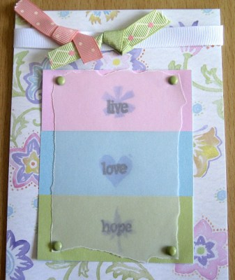 CTMH Live Love Hope Card at Create With Joy