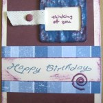 Happy Birthday Card at Create With Joy - Blue & Maroon