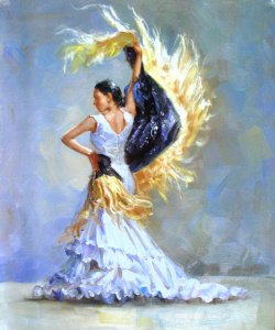 Flamenco Dancer by Willy Biaggi