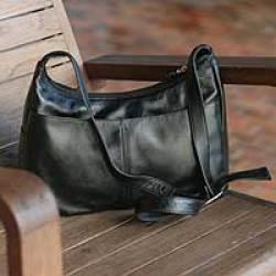 Novica - Busy Day Leather Shoulder Bag by Kunyanee
