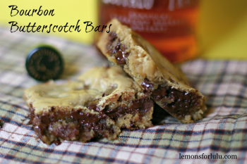 Bourbon Butterscotch Bars