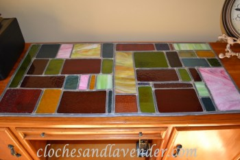 Stained Glass Desk - Cloche And Lavender