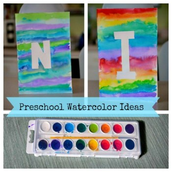 Preschool Watercolor Art